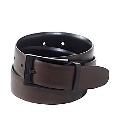 Perry Ellis Portfolio® Men's Black/Brown 'Cop' Reversible Leather Belt