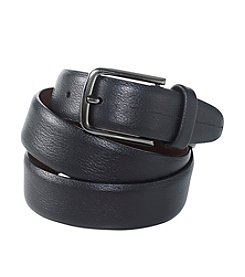 Perry Ellis Portfolio® Men's Black Pebble Grain Leather Belt