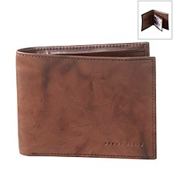 Perry Ellis Portfolio® Men's 'Crunch' Leather Passcase Wallet