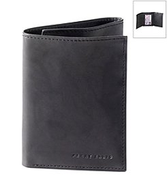 Perry Ellis Portfolio® Men's 'Crunch' Leather Tri-fold Wallet