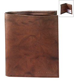 Perry Ellis Portfolio® Men's 'Crunch' Leather Passport Wallet