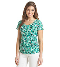 Notations® Petites' Abstract Print Top