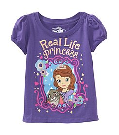 Disney® Girls' 2T-4T Purple Real Life Princess Puff Sleeve Tee