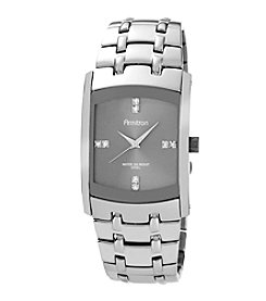 Armitron Men's Crystal Accented Dark Silvertone Bracelet Watch