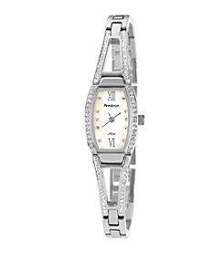 Armitron Women's Crystal Accented Silvertone Bangle Bracelet Watch
