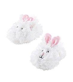 Cuddle Bear® Baby Girls' White Fuzzy Bunny Socks