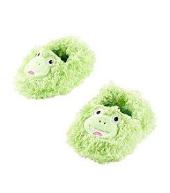 Cuddle Bear® Baby Boys' Green Fuzzy Frog Socks