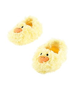 Cuddle Bear® Baby Yellow Fuzzy Duck Socks