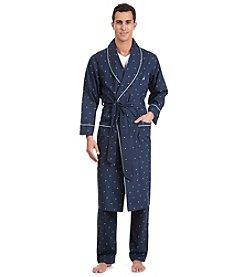 Nautica® Men's Navy 'J-Class' Woven Robe