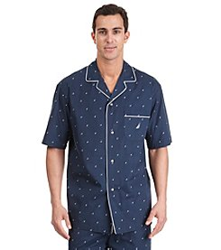 Nautica® Men's Navy 'J-Class' Woven Camp Shirt