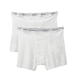 Hanes® Men's White 2-Pack Big Man Boxer Brief