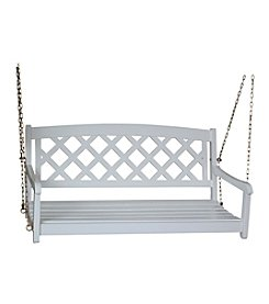 International Concepts White Porch Swing with Chains
