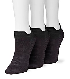 HUE® 3-Pack Air Sleek Tab No Show Socks