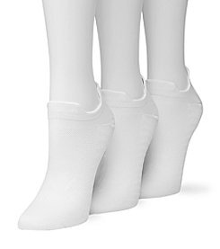 HUE® 3-Pack Air Sleek Front & Back Tab No-Show Socks