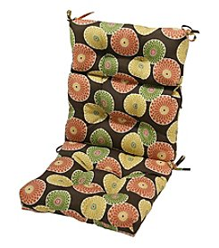 Greendale Home Fashions Flowers on Chocolate Outdoor High Back Chair Cushion