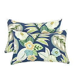 Greendale Home Fashions Set of Two Marlow Rectangle Outdoor Accent Pillows