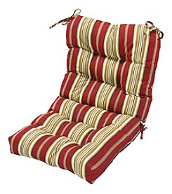 Greendale Home Fashions Roma Stripe Outdoor Seat and Back Chair Cushion