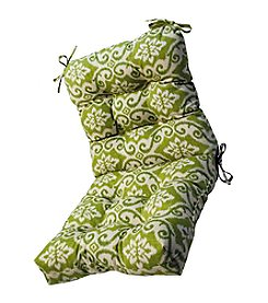 Greendale Home Fashions Green Ikat Outdoor Seat and Back Chair Cushion