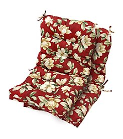 Greendale Home Fashions Set of Two Roma Floral Outdoor Seat/Back Chair Cushions