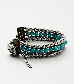 Lucky Brand® Silvertone Wrap Bracelet