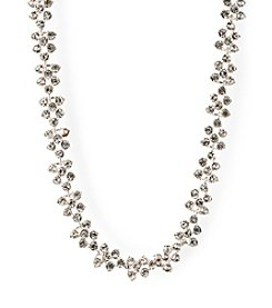 Anne Klein® Silvertone Stone Collar Necklace