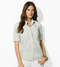 Lauren Jeans Co. Roll-Sleeve Shirt