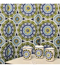 Waverly® by Famous Home Fashions Solar Flare Lime and Indigo 5-pc. Bath Collection
