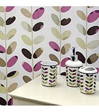 Famous Home Fashions® Colorful Vines Plum 5-pc. Bath Collection