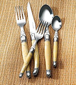 Jean Dubost® Laguiole Pearlized Ivory 5-pc. Flatware Set