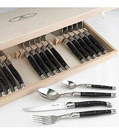 Jean Dubost® Laguiole Black 24-pc. Flatware Set