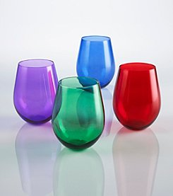 Wine Enthusiast Jewel Toned Set of 4 Tumblers