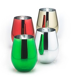 Wine Enthusiast Metallic Set of 4 Tumblers