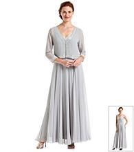 J Kara® Beaded Bodice Dress With Matching Jacket