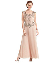 J Kara® Mock Flair Beaded Bodice Dress