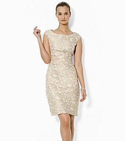 Lauren Ralph Lauren® Cap-Sleeved Jacquard Dress