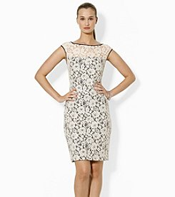 Lauren Ralph Lauren® Cap-Sleeved Lace Dress