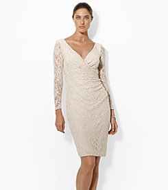 Lauren Ralph Lauren® Stretch Floral Lace Dress