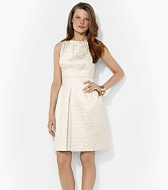 Lauren Ralph Lauren® Key Hole Dress With Pleated Skirt