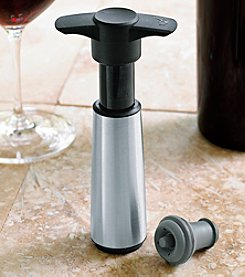 Wine Enthusiast Vacu Vin Stainless Steel Vacuum Wine Saver