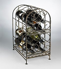 Wine Enthusiast Antique Bronze 8-Bottle Wine Jail