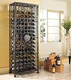 Wine Enthusiast Antiqued 96-Bottle Steel Wine Jail