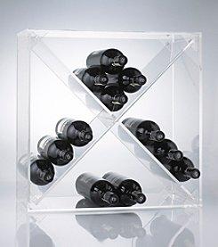 Wine Enthusiast 24-Bottle Acrylic Wine Cube
