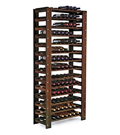 Wine Enthusiast Swedish 126-Bottle Dark Walnut Wine Rack