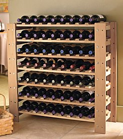 Wine Enthusiast Swedish 63-Bottle Wine Rack