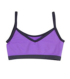 Jockey® Girls' Purple/Grey 2-Way Performance Crop Top