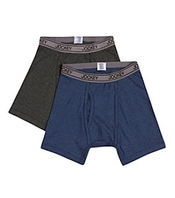 Jockey® Boys' Grey/Navy 2-pk. Boxer Briefs