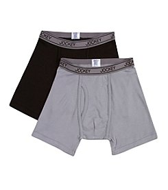 Jockey® Boys' Black/Grey 2-pk. Boxer Briefs
