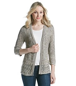Notations® Marled Open Cardigan