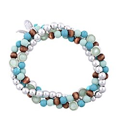 Nine West Vintage America Collection® Turquoise Beaded Stretch Bracelet