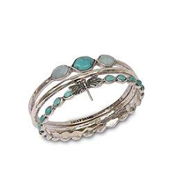Lucky Brand® Silvertone Bangle Bracelet